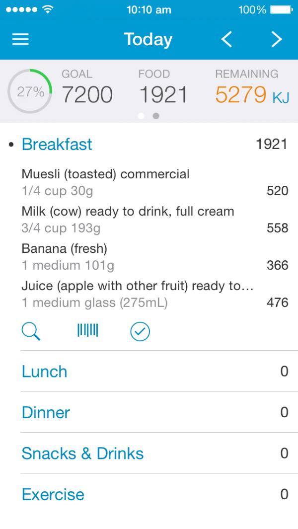 Easy diet diary xyris