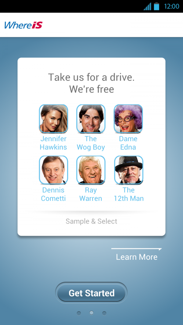Whereis® iPhone & Android app (Celebrity Voices release) - Winner