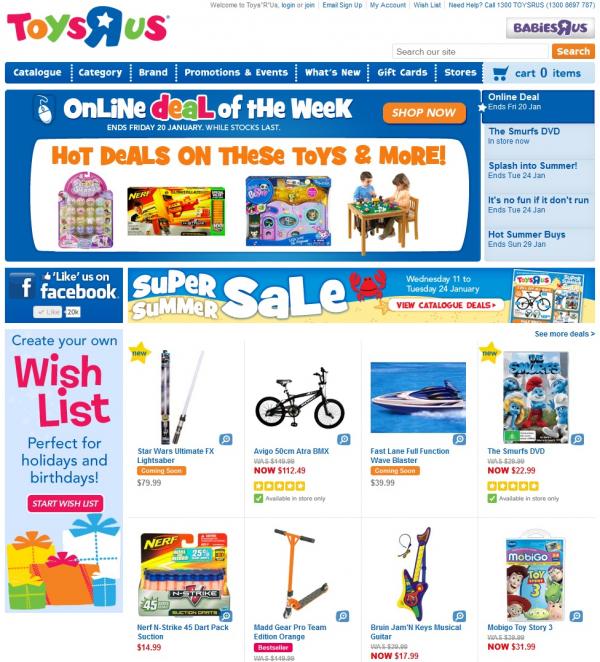 Toys R Us Online Store 2012 Melbourne Design Awards