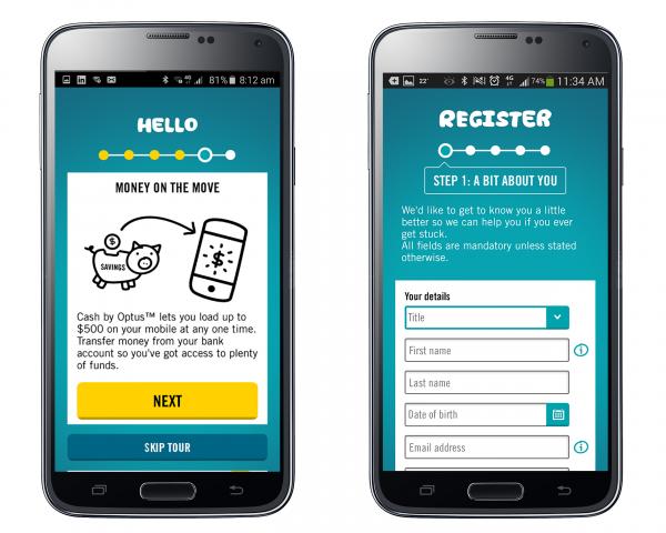 Cash by Optus - Silver Winner - 2016 [app] design awards