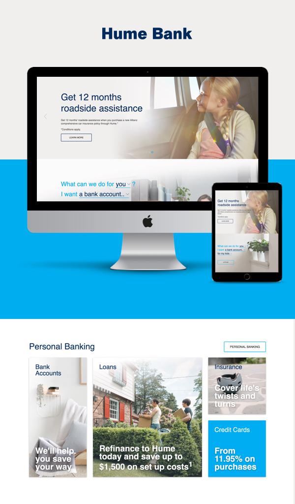 Design Bank Twist.Hume Bank Website Silver Winner 2017 Melbourne Design Awards