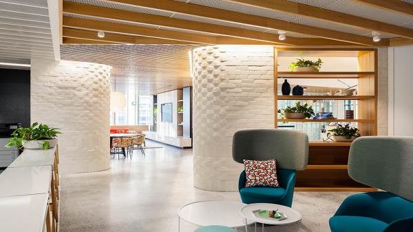 dropbox corporate office workspace dropbox sydney office draft silver winner 2017 design awards