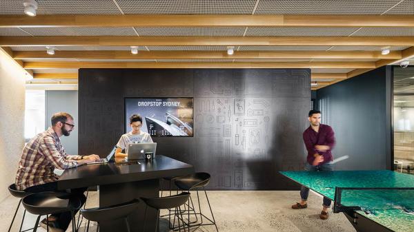 dropbox corporate office rapt photo credit gensler dropbox sydney office silver winner 2017 design awards