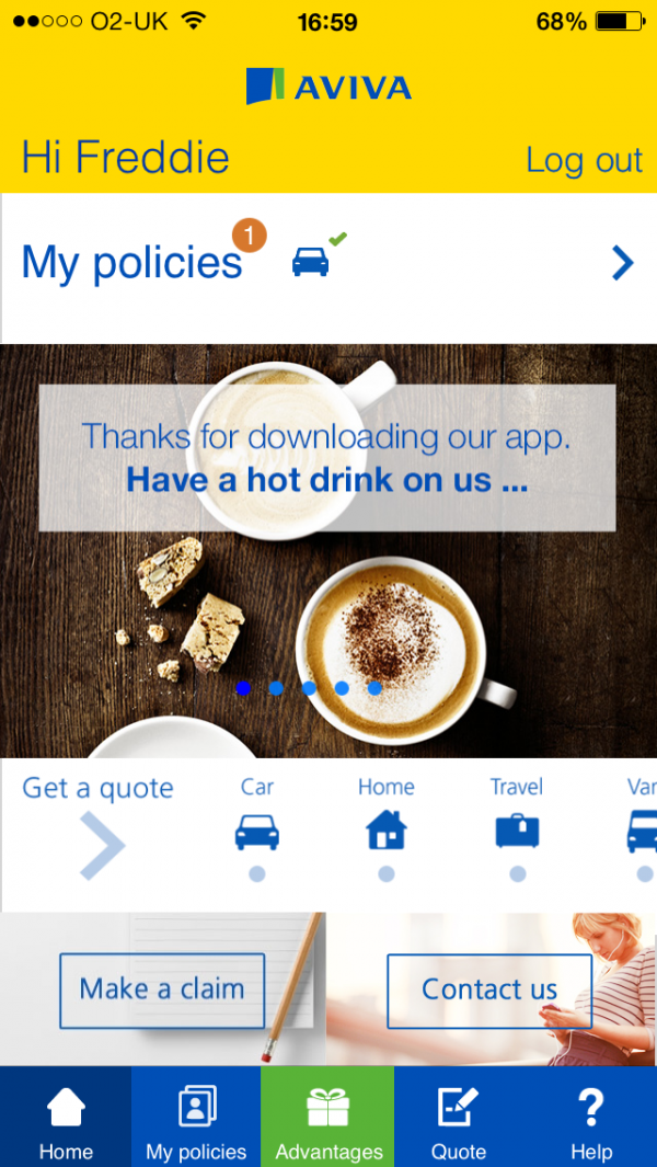 Myaviva Mobile App Finalist 2014 Uk Mobile App Design Awards