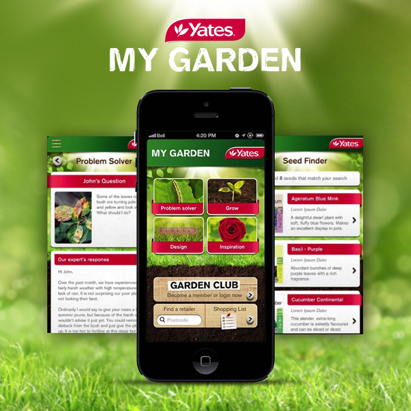 Yates my garden app winner 2014 australian mobile for Garden design yates