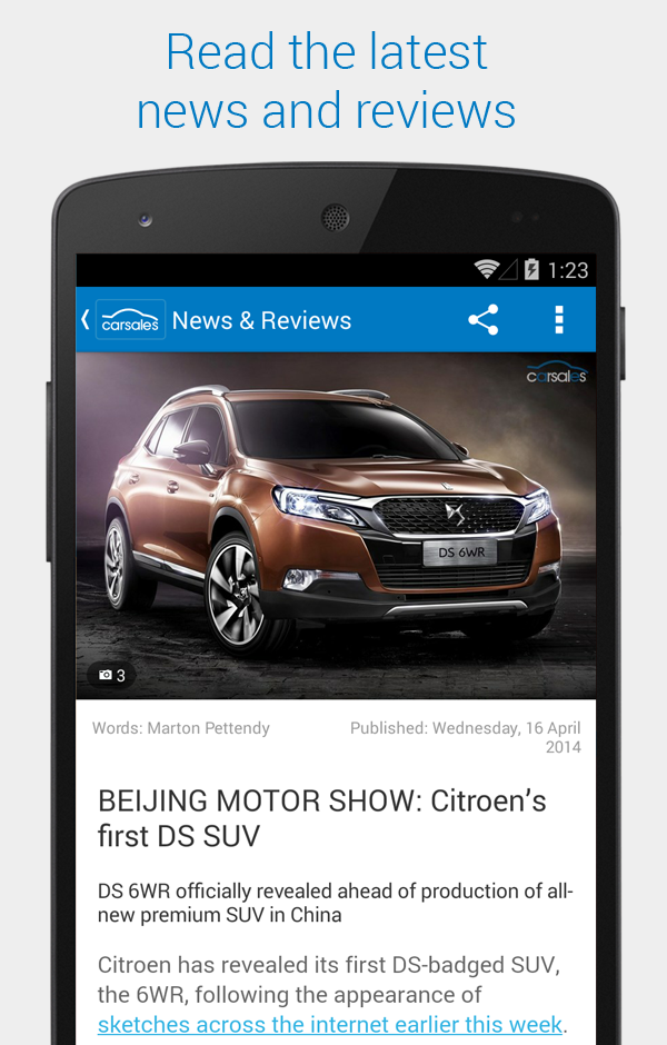 carsales com au new mobile site and apps - Winner - 2014 Australian