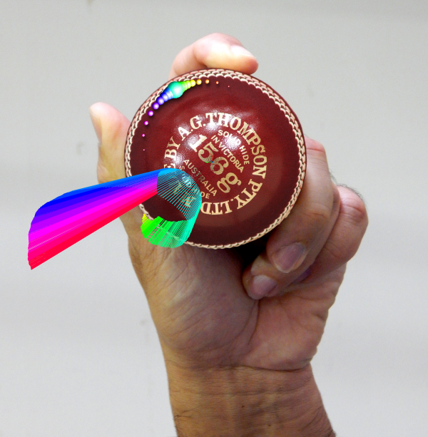 Smart cricket ball silver winner driven x design for Smart cricket