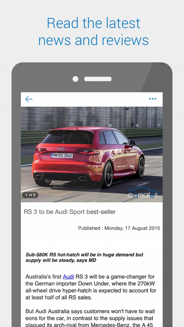 carsales ios apps android website